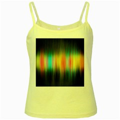 Sound Colors Rainbow Line Vertical Space Yellow Spaghetti Tank