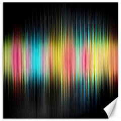 Sound Colors Rainbow Line Vertical Space Canvas 20  X 20