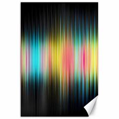 Sound Colors Rainbow Line Vertical Space Canvas 20  X 30