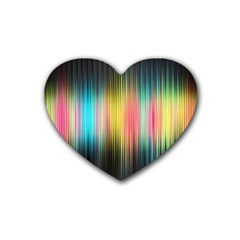 Sound Colors Rainbow Line Vertical Space Rubber Coaster (heart)