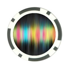 Sound Colors Rainbow Line Vertical Space Poker Chip Card Guard (10 Pack)