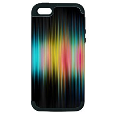 Sound Colors Rainbow Line Vertical Space Apple Iphone 5 Hardshell Case (pc+silicone)