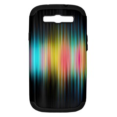 Sound Colors Rainbow Line Vertical Space Samsung Galaxy S Iii Hardshell Case (pc+silicone)