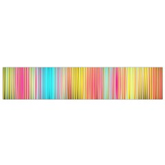 Sound Colors Rainbow Line Vertical Space Flano Scarf (small)
