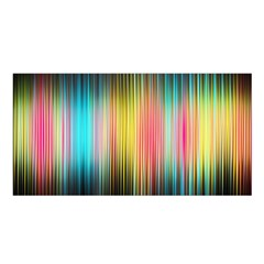 Sound Colors Rainbow Line Vertical Space Satin Shawl