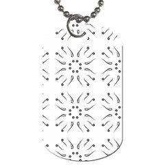 Squid Flower Floral Polka Dots Sunflower Dog Tag (one Side)