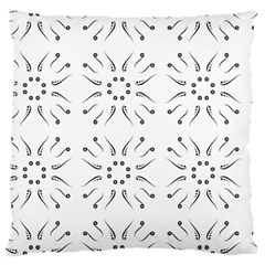 Squid Flower Floral Polka Dots Sunflower Large Flano Cushion Case (two Sides)