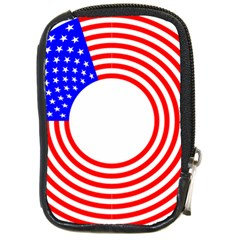Stars Stripes Circle Red Blue Compact Camera Cases