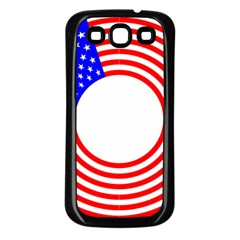 Stars Stripes Circle Red Blue Samsung Galaxy S3 Back Case (black)