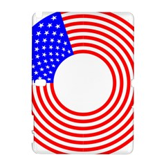 Stars Stripes Circle Red Blue Galaxy Note 1