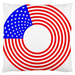 Stars Stripes Circle Red Blue Large Flano Cushion Case (one Side)