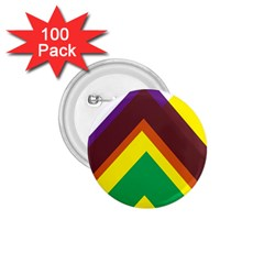 Triangle Chevron Rainbow Web Geeks 1 75  Buttons (100 Pack)