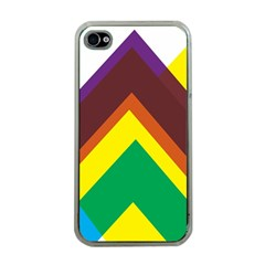Triangle Chevron Rainbow Web Geeks Apple Iphone 4 Case (clear)