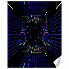 Seamless 3d Animation Digital Futuristic Tunnel Path Color Changing Geometric Electrical Line Zoomin Canvas 11  X 14