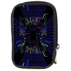 Seamless 3d Animation Digital Futuristic Tunnel Path Color Changing Geometric Electrical Line Zoomin Compact Camera Cases