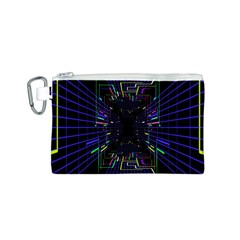 Seamless 3d Animation Digital Futuristic Tunnel Path Color Changing Geometric Electrical Line Zoomin Canvas Cosmetic Bag (s)