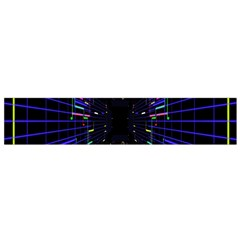 Seamless 3d Animation Digital Futuristic Tunnel Path Color Changing Geometric Electrical Line Zoomin Flano Scarf (small)