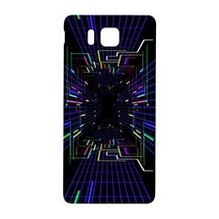 Seamless 3d Animation Digital Futuristic Tunnel Path Color Changing Geometric Electrical Line Zoomin Samsung Galaxy Alpha Hardshell Back Case