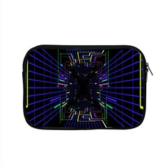 Seamless 3d Animation Digital Futuristic Tunnel Path Color Changing Geometric Electrical Line Zoomin Apple Macbook Pro 15  Zipper Case