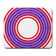 Stars Stripes Circle Red Blue Space Round Large Mousepads