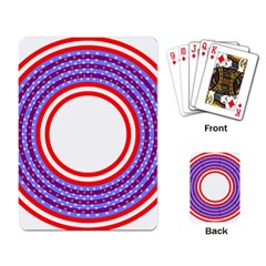 Stars Stripes Circle Red Blue Space Round Playing Card