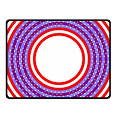 Stars Stripes Circle Red Blue Space Round Fleece Blanket (small)