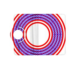 Stars Stripes Circle Red Blue Space Round Kindle Fire Hd (2013) Flip 360 Case