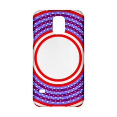 Stars Stripes Circle Red Blue Space Round Samsung Galaxy S5 Hardshell Case