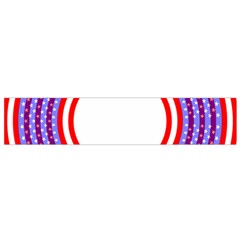 Stars Stripes Circle Red Blue Space Round Flano Scarf (small)