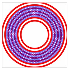 Stars Stripes Circle Red Blue Space Round Large Satin Scarf (square)