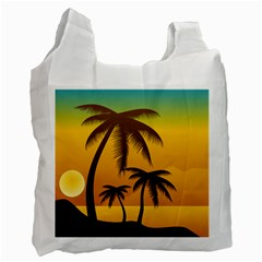 Sunset Summer Recycle Bag (one Side)