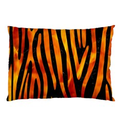 Skin4 Black Marble & Fire (r) Pillow Case (two Sides)