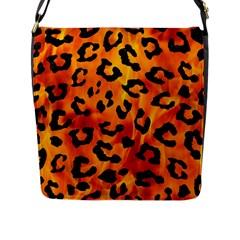 Skin5 Black Marble & Fire Flap Messenger Bag (l)