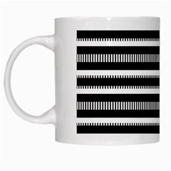 Tribal Stripes Black White White Mugs
