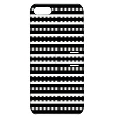 Tribal Stripes Black White Apple Iphone 5 Hardshell Case With Stand