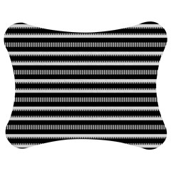 Tribal Stripes Black White Jigsaw Puzzle Photo Stand (bow)