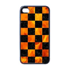 Square1 Black Marble & Fire Apple Iphone 4 Case (black)