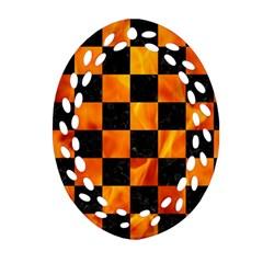 Square1 Black Marble & Fire Ornament (oval Filigree)