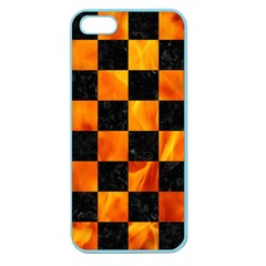 Square1 Black Marble & Fire Apple Seamless Iphone 5 Case (color)