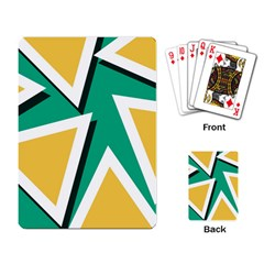 Triangles Texture Shape Art Green Yellow Playing Card