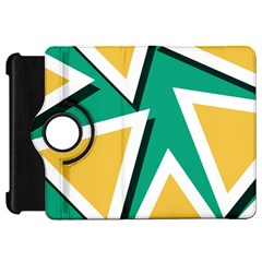 Triangles Texture Shape Art Green Yellow Kindle Fire Hd 7