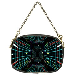 Seamless 3d Animation Digital Futuristic Tunnel Path Color Changing Geometric Electrical Line Zoomin Chain Purses (one Side)
