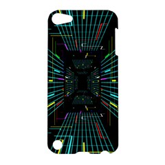 Seamless 3d Animation Digital Futuristic Tunnel Path Color Changing Geometric Electrical Line Zoomin Apple Ipod Touch 5 Hardshell Case