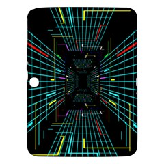 Seamless 3d Animation Digital Futuristic Tunnel Path Color Changing Geometric Electrical Line Zoomin Samsung Galaxy Tab 3 (10 1 ) P5200 Hardshell Case
