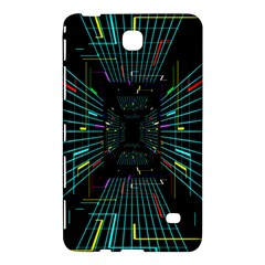 Seamless 3d Animation Digital Futuristic Tunnel Path Color Changing Geometric Electrical Line Zoomin Samsung Galaxy Tab 4 (7 ) Hardshell Case