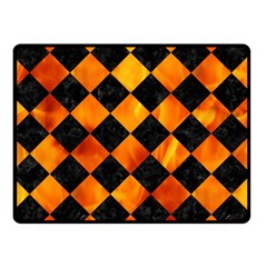 Square2 Black Marble & Fire Double Sided Fleece Blanket (small)