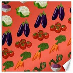 Vegetable Carrot Tomato Pumpkin Eggplant Canvas 12  X 12