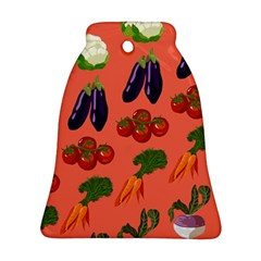 Vegetable Carrot Tomato Pumpkin Eggplant Bell Ornament (two Sides)