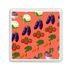 Vegetable Carrot Tomato Pumpkin Eggplant Memory Card Reader (square)