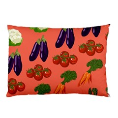Vegetable Carrot Tomato Pumpkin Eggplant Pillow Case (two Sides)